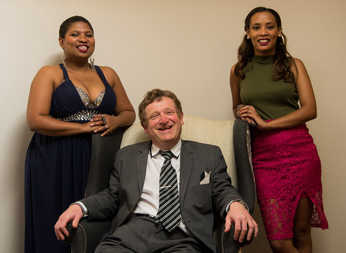 David Gummers of DGP Music, with artists Felicity Kiran and Lauren-Lee Bock